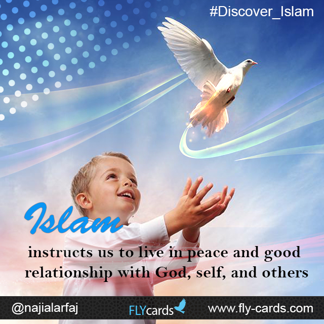 Islam instructs us to live in peace