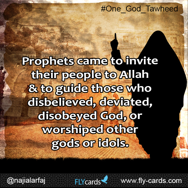 prophets came to invite people to allah