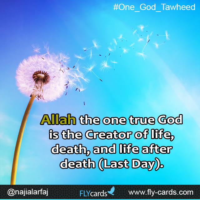 allah the one God is the creator of life