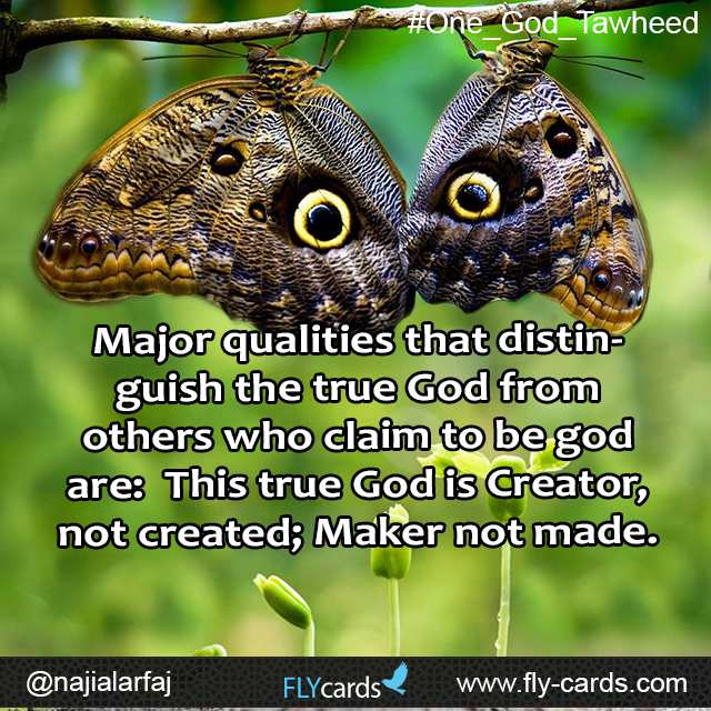 major qualities that distinguish true god from others
