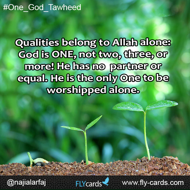 Quallities belong to  allah alone