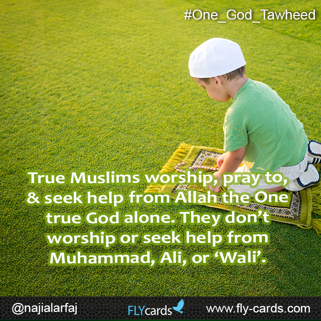 True muslims worship, pray to &seek help from allah