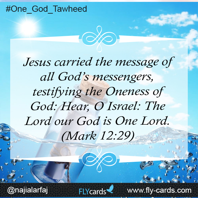 Jesus carried the message of all god's messengers