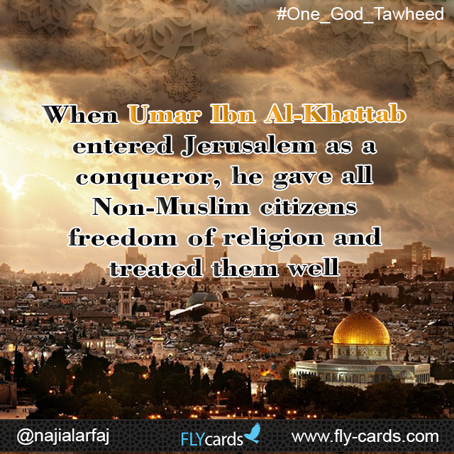 When Umar ibn al-khattab entered Jerusalem