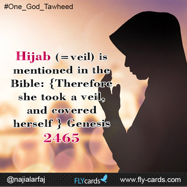 Hijab is mentioned in the bible