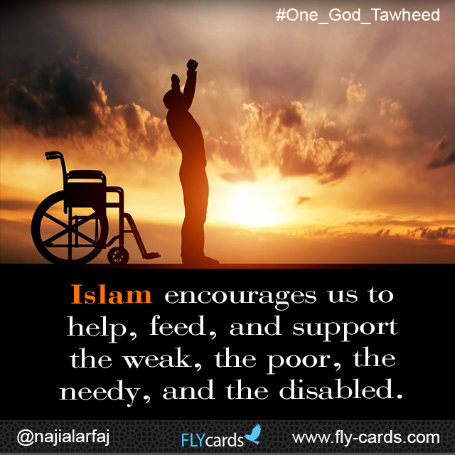 Islam encourages us to help others