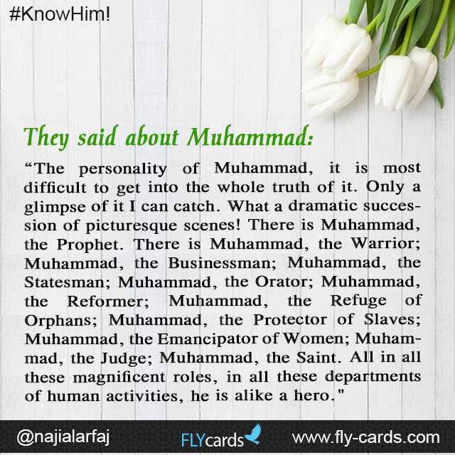They said about muhammad