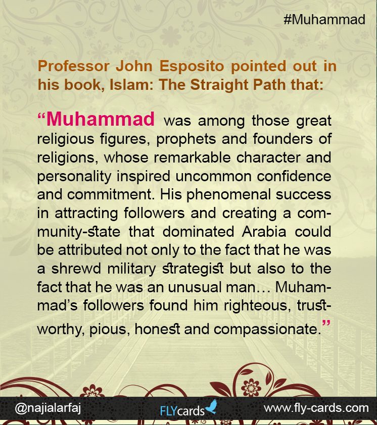 Muhammad was among those great religious