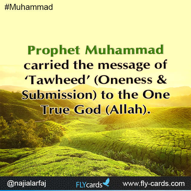 Prophet Muhammad carried the message