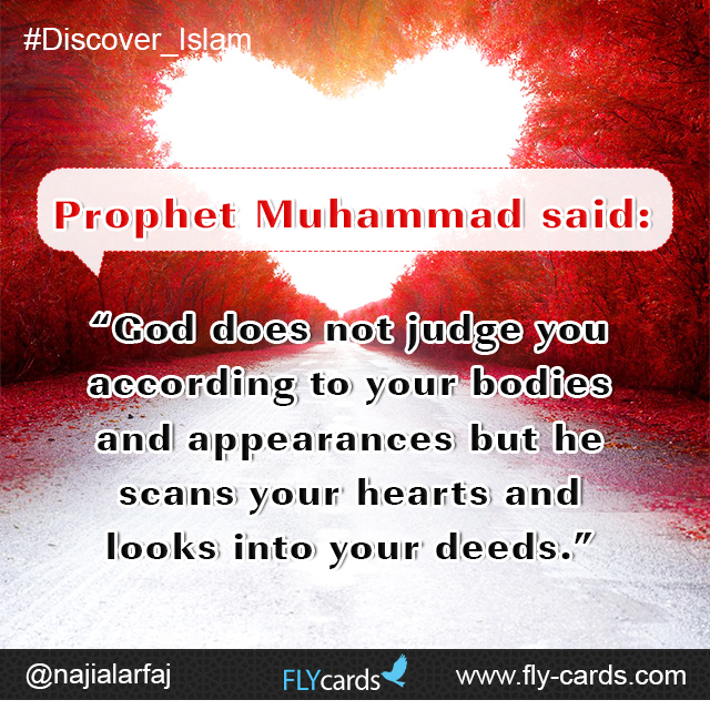 God does not judge you according to your bodies