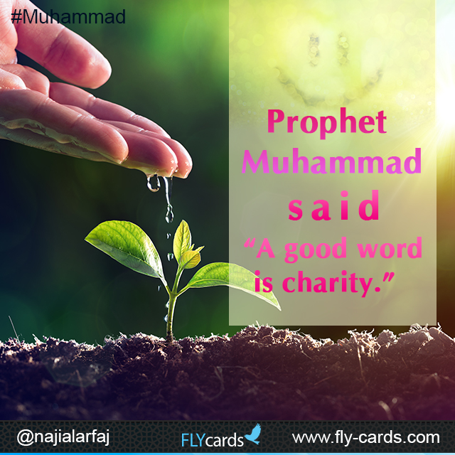 a good word is charity